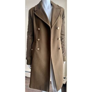 Vince Camuto Double Breasted Green Wool Coat Large